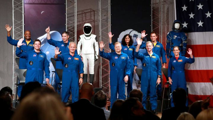 Astronauts in Clear Lake City Texas
